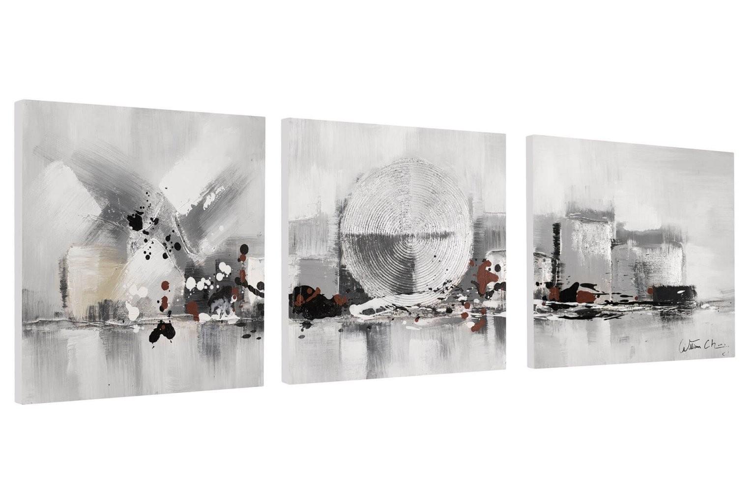 Abstraktes Bildset In Schwarzweiß Kaufen  Kunstloft von Leinwandbilder Schwarz Weiß Xxl Photo
