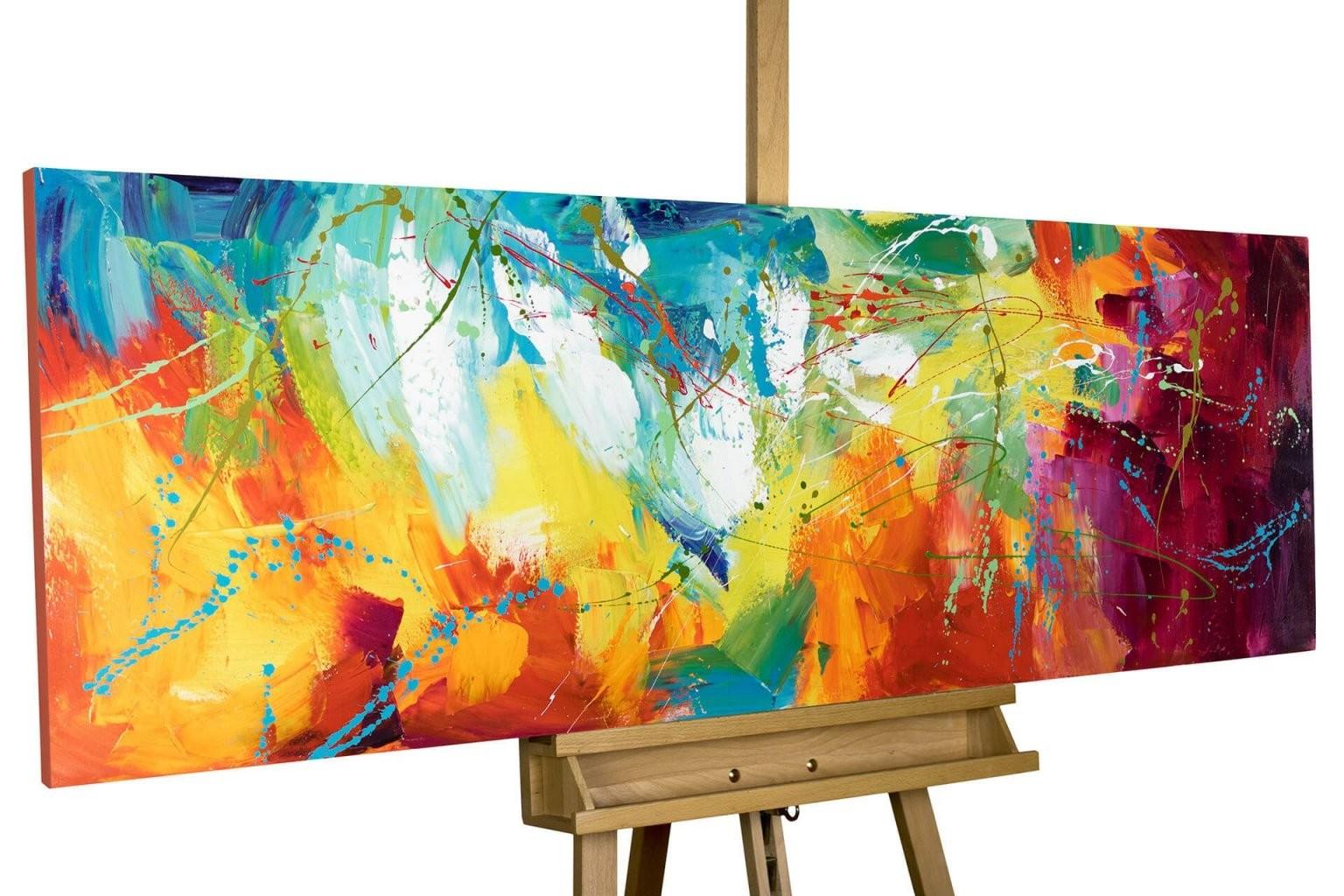 Acryl Gemälde 'bright Future' 150X50Cm  Abstract Art  Gemälde von Abstrakte Acrylbilder Selber Malen Bild