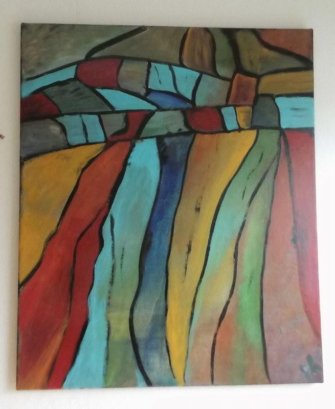 Acrylbild Auf Leinwand  Keilrahmen  Abstrakt  50 X 60 Cm In von Bilder Leinwand Abstrakt Keilrahmen Photo