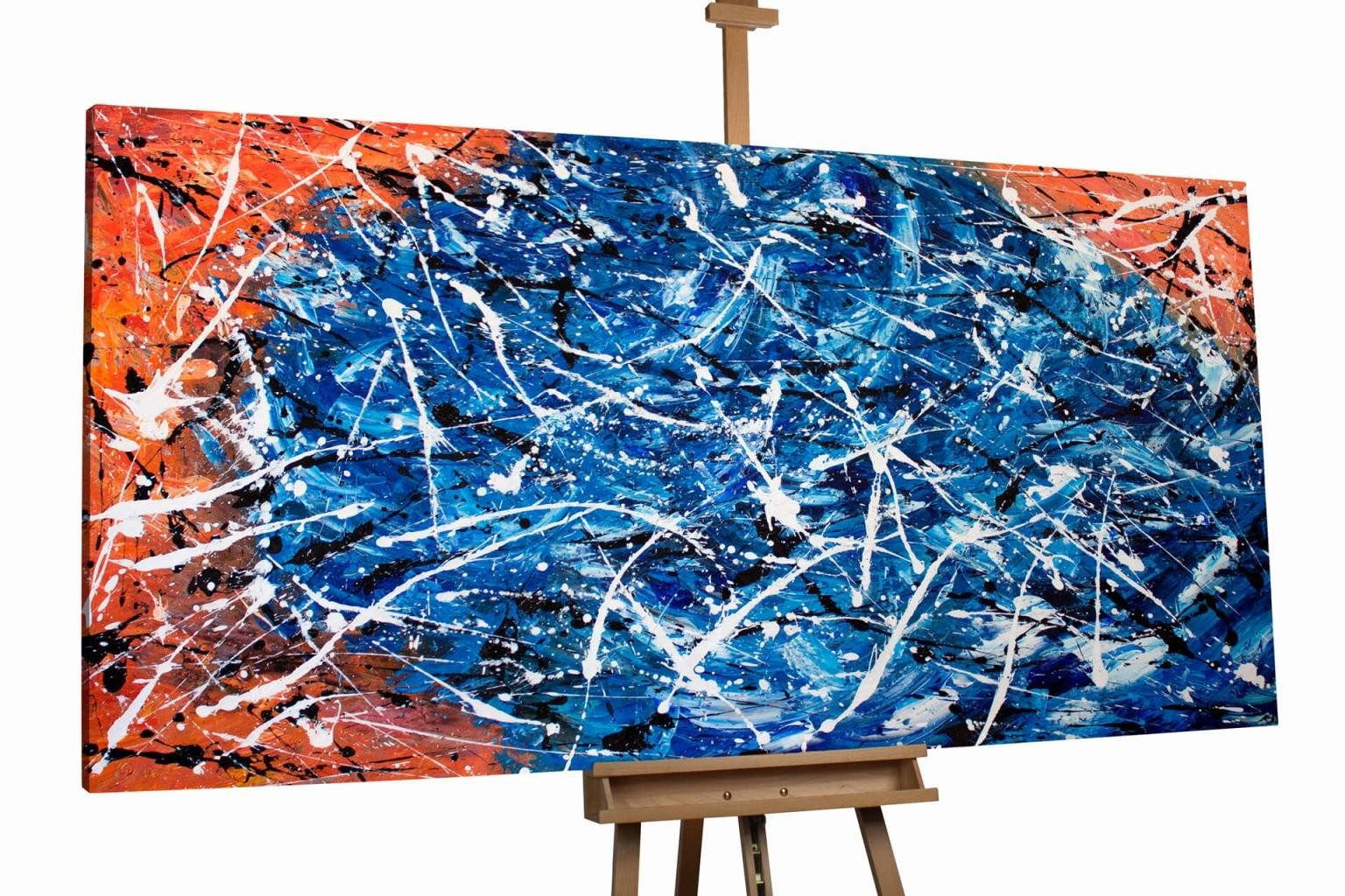 Acrylbilder Abstrakt Selber Malen Typen Xxl Gemälde Abstrakt Mit von Abstrakte Acrylbilder Selber Malen Bild