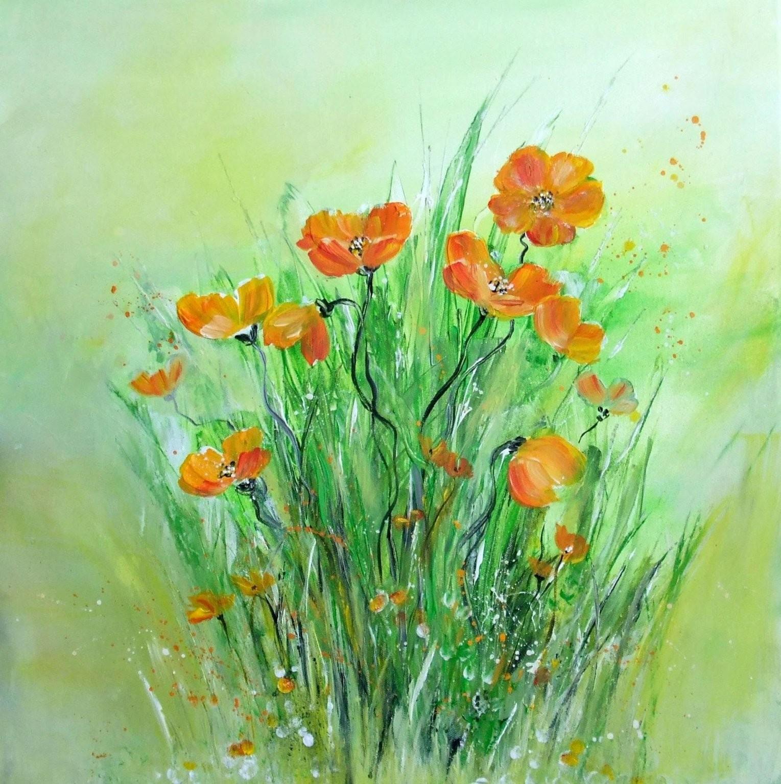 Acrylmalerei Für Anfänger Blumen Painting For Beginners Flowers von Bilder Selber Malen Mit Acryl Vorlagen Photo