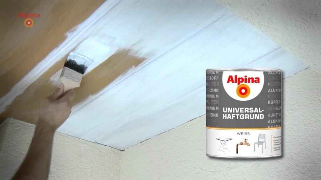 Alpina Farben  Holzdecke Lackieren  Youtube von Braune Holzdecke Weiß Streichen Bild