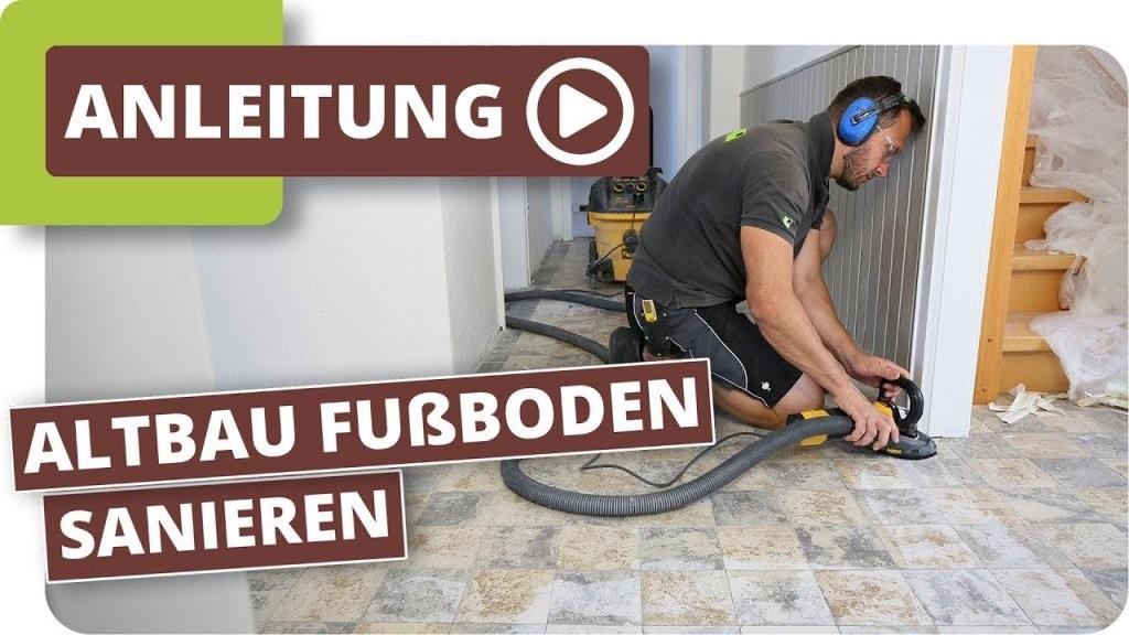 Altbau Fußboden Sanieren  Kleberückstände Von Fliesen Entfernen Und von Bodenfliesen Entfernen Und Neu Verlegen Bild