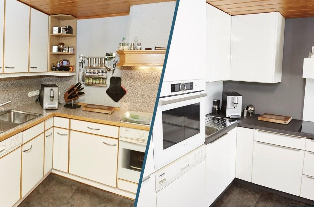 Alte Küche Neu Gestalten  Projekt Oswald  Elha Service von Küche Verschönern Vorher Nachher Bild