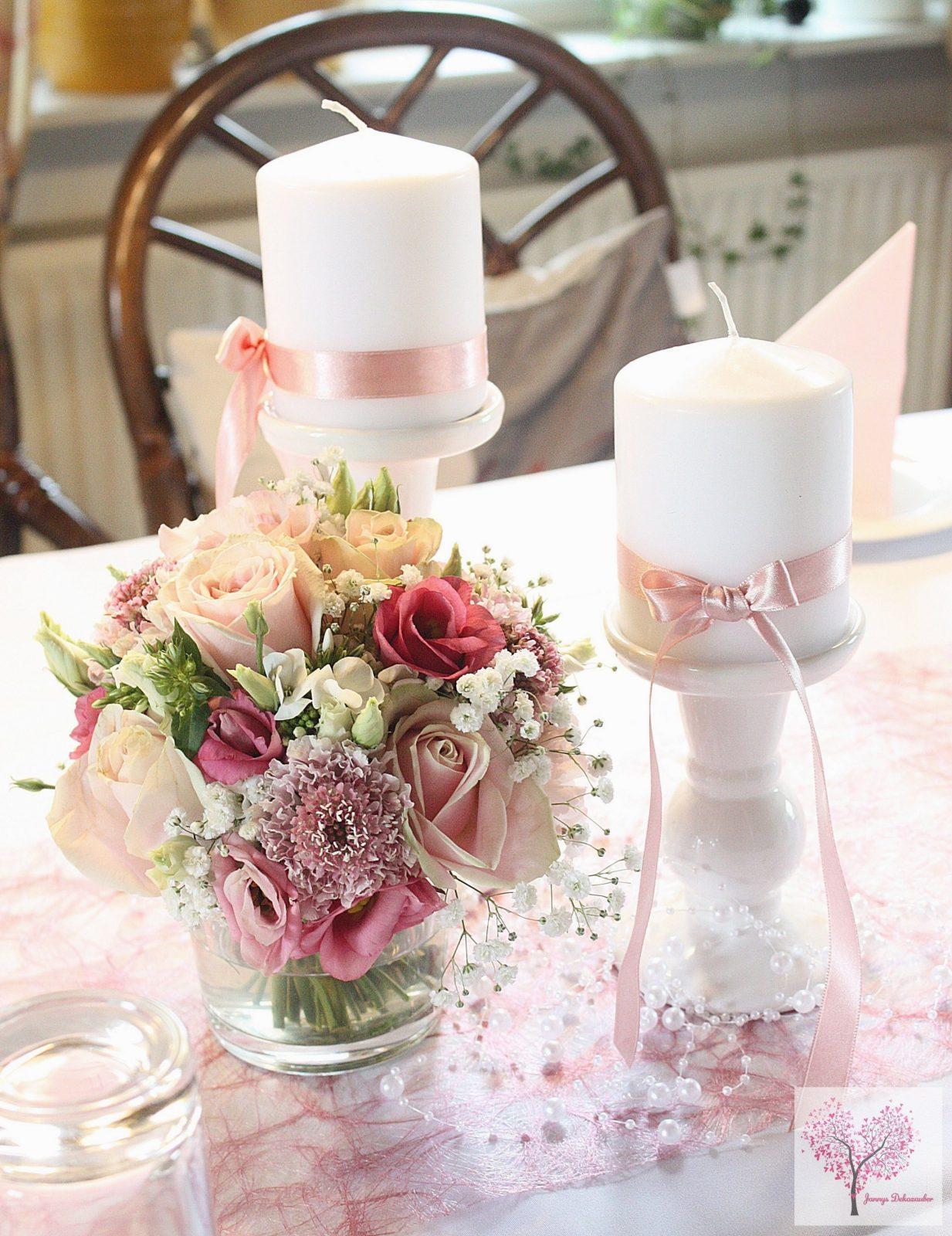 Altrosa Tischdeko Hochzeit Taufe Sizoweb Perlen Blumen Rosa Pink von Tischdeko Hochzeit Vintage Rosa Photo