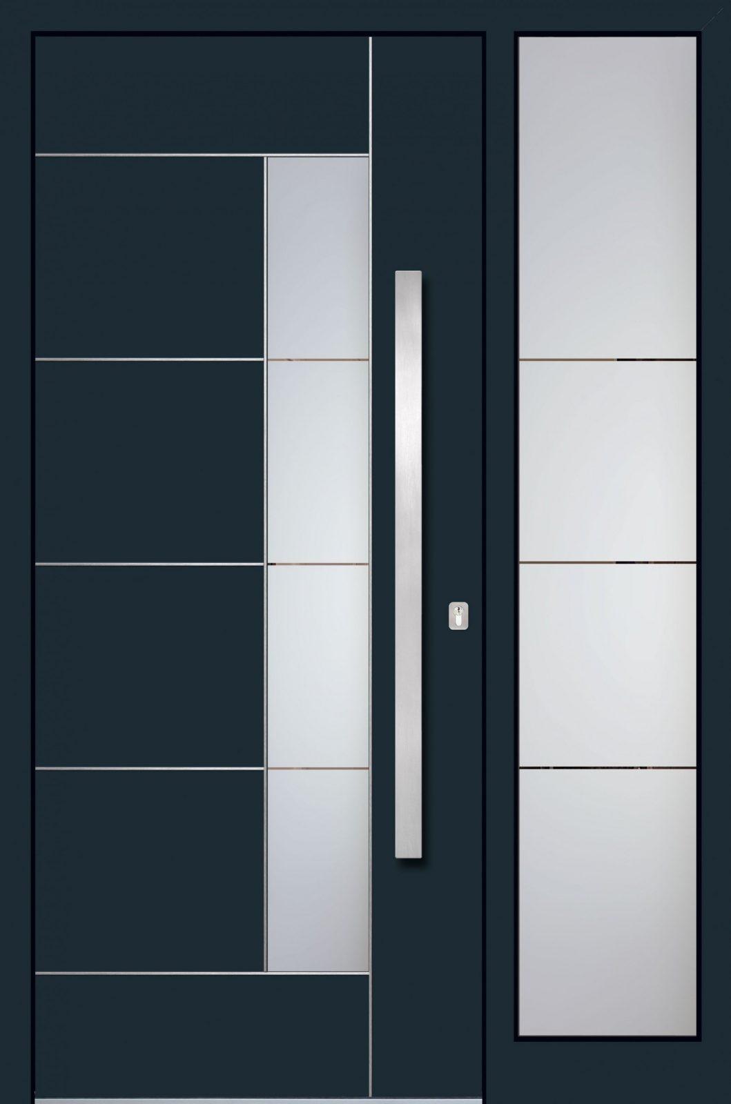Alu Haustüren Schüco Mit Seitenteil  Haustüren Aluminium Modern von Km Meeth Zaun Gmbh Haustüren Photo