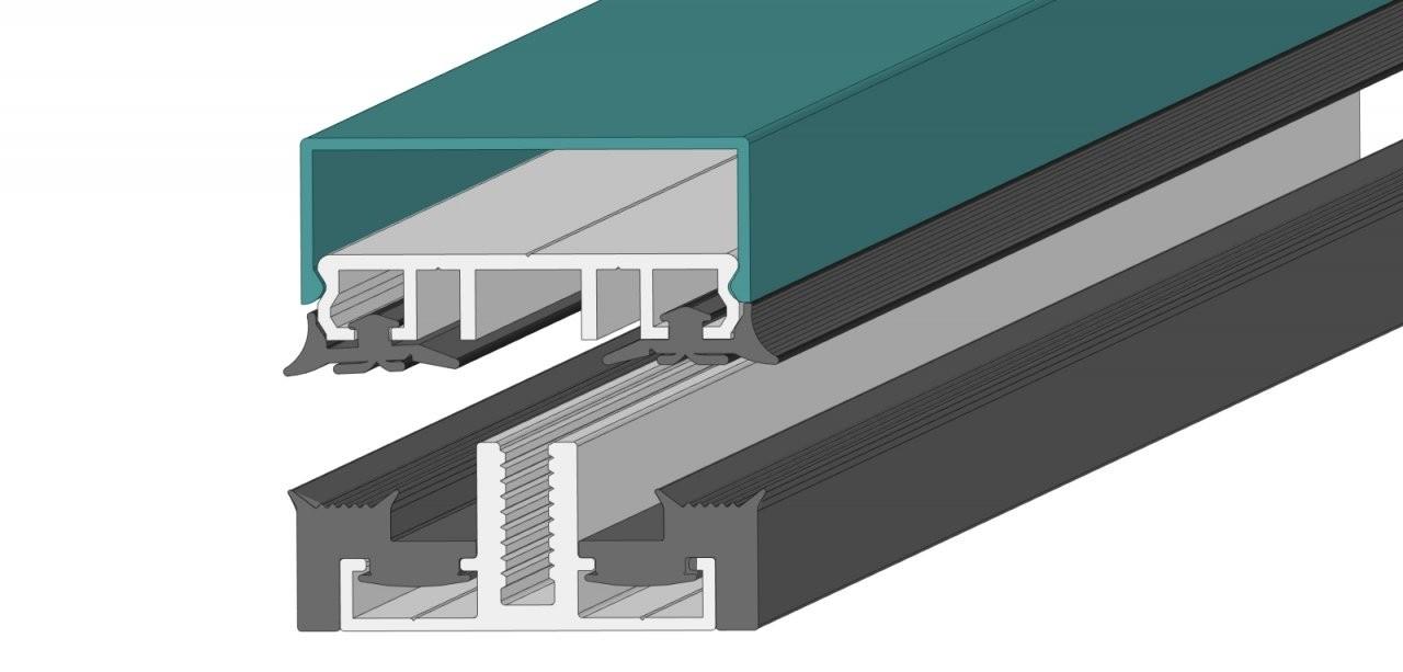 Aluauflageprofile Für Terrassendächer Mit Vsg Glas  Musterprofile von Verlegeprofile Für Vsg Glas Photo