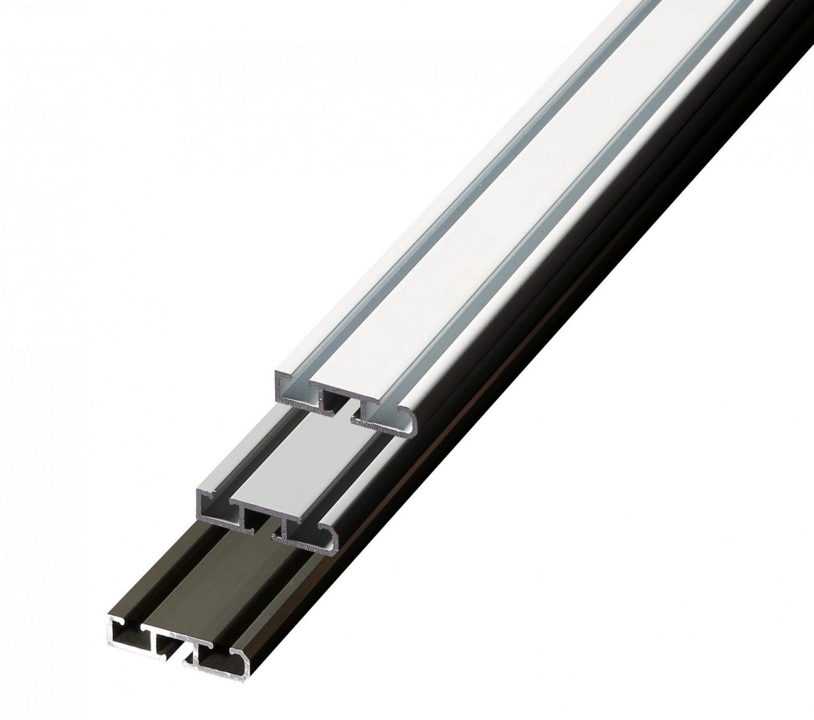 Aluminium Gardinenschiene 12Läufig  Bis 6Lfm  Made In Germany von Gardinenschiene 1 Läufig Deckenmontage Bild