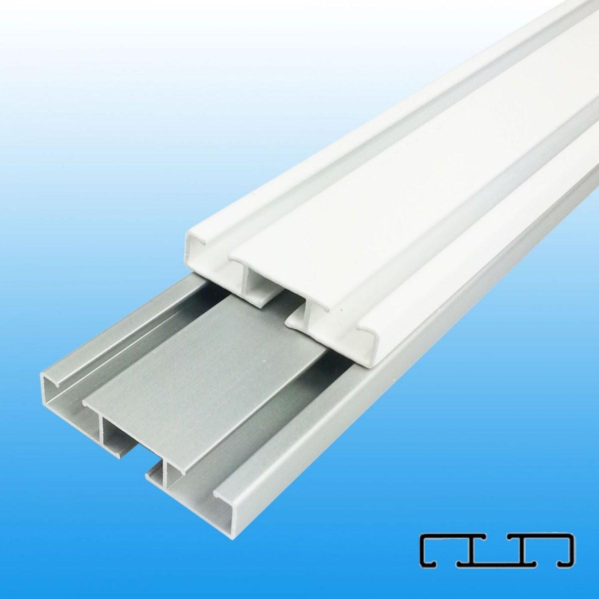 Aluminium Vorhangschiene Gardinenschiene Weißalu Wendeschiene 12 von Alu Gardinenschiene 1 Läufig Bild