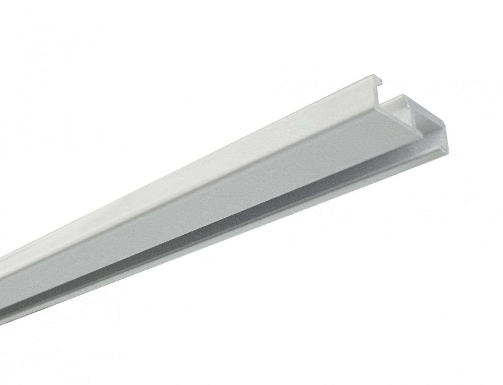 Aluminiumvorhangschiene 1Läufig Weiß  Gardinenschienen von Alu Gardinenschiene 1 Läufig Bild