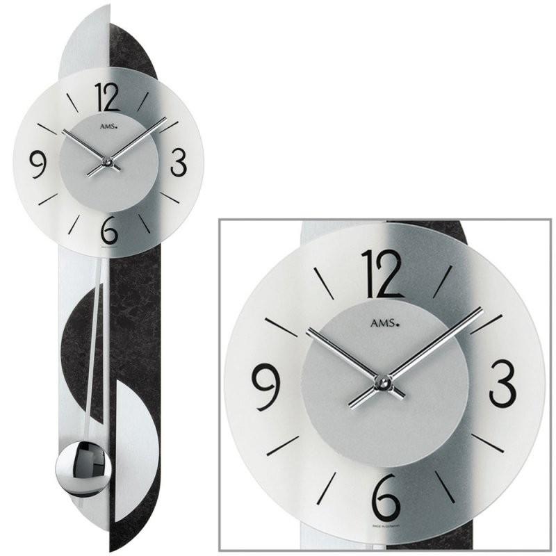 Ams Wanduhr 7299 Quarz Mit Pendel Glaszifferblatt Wohnzimmeruhr von Wohnzimmer Uhren Mit Pendel Bild