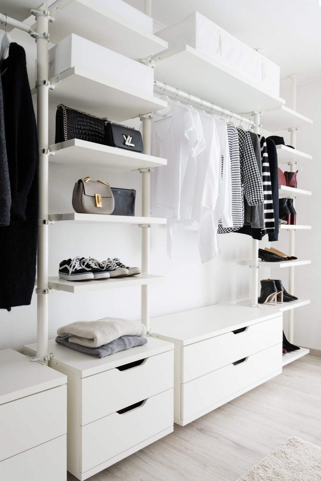 Ankleidezimmer  Offener Kleiderschrank  Ikea  Stolmen  Closet von Begehbarer Kleiderschrank Ikea Stolmen Photo