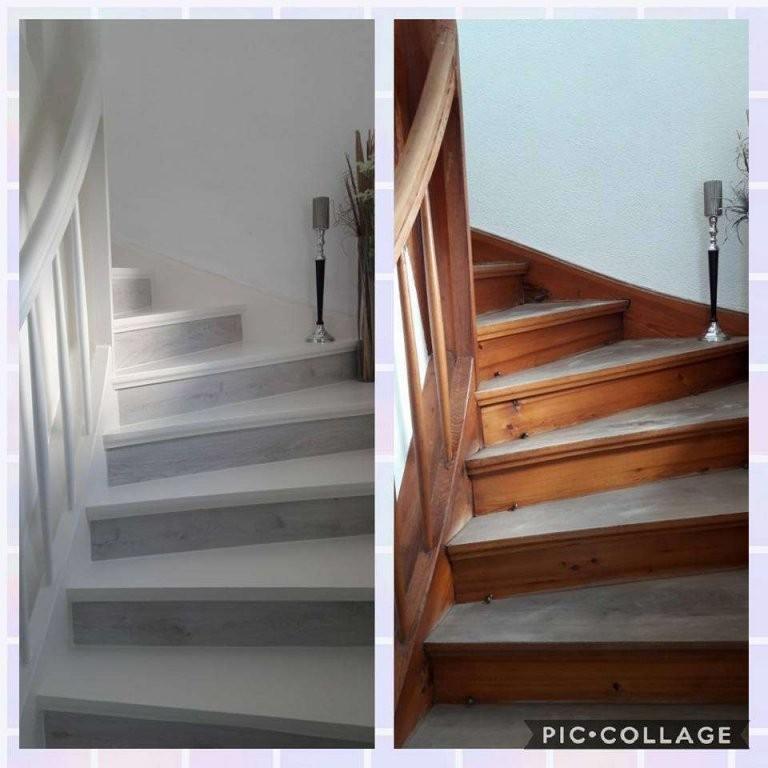 Anleitung Zum Treppe Streichen Mit Kreidefarbe Von von Treppe Streichen Welche Farbe Photo