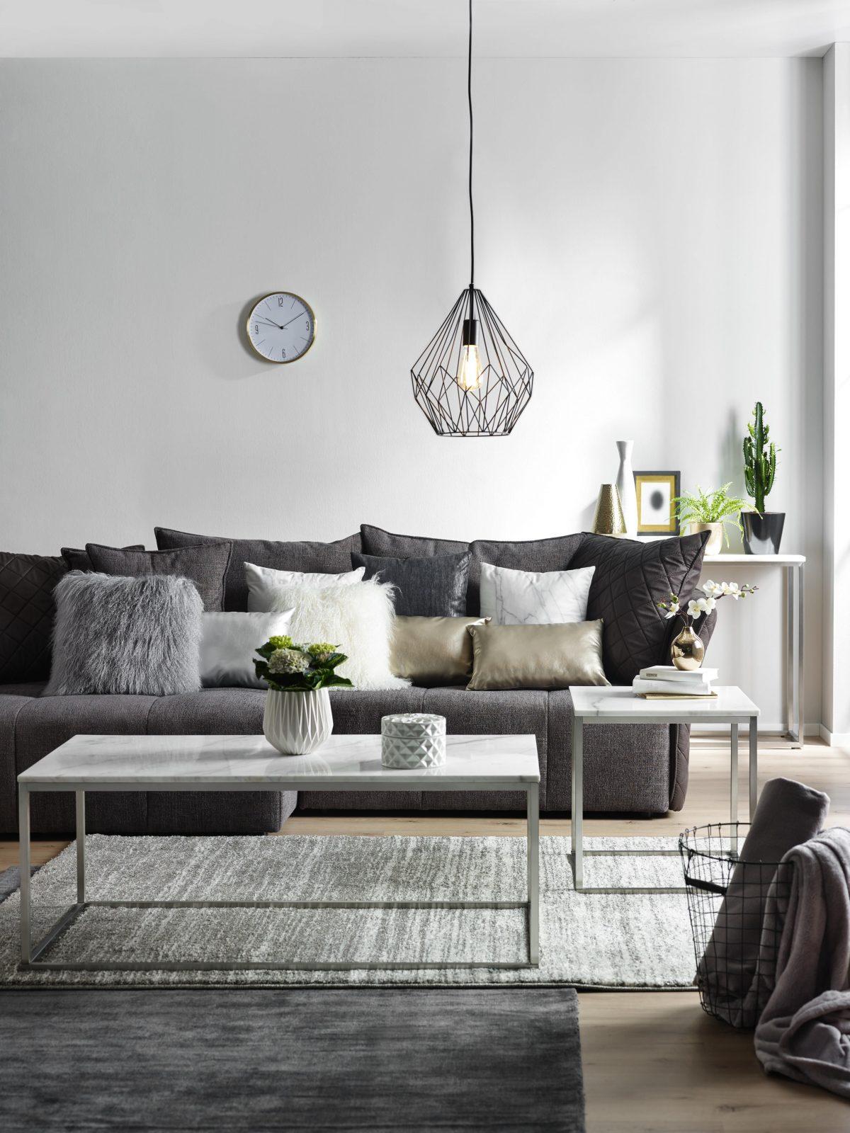 Anthrazit Grau Oder Silber Verleihen Dem Raum Nordischen Charme Und von Anthrazit Couch Wohnzimmer Farbe Photo
