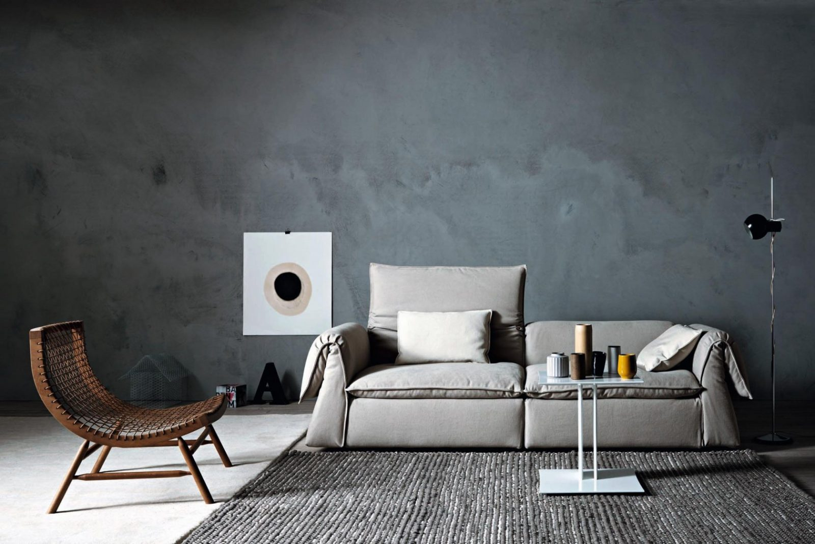 Anthrazitfarbenes Sofa • Bilder  Ideen • Couch von Anthrazit Couch Wohnzimmer Farbe Photo