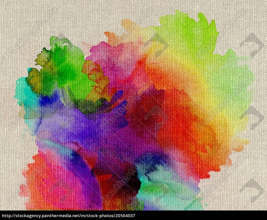 Aquarell Regenbogen Abstrakt Leinwand  Stockfoto  20504037 von Bilder Auf Leinwand Abstrakt Bild