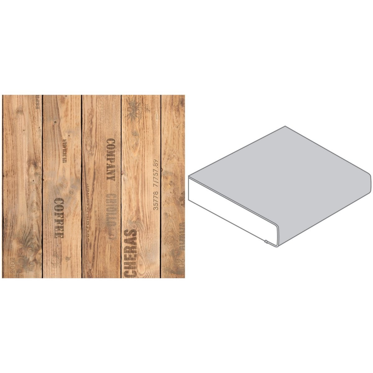 Arbeitsplatte 60 Cm X 39 Cm Holzkiste Holznachbildung (Fi 420 von Küchenarbeitsplatte 70 Cm Breit Bild