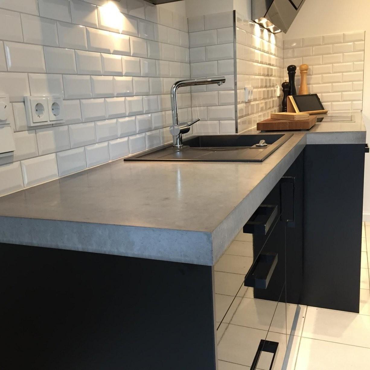 Arbeitsplatten Aus Beton Diy  Anleitung Mit Betonrezept  Bigmeatlove von Küchenarbeitsplatte Beton Selber Machen Bild