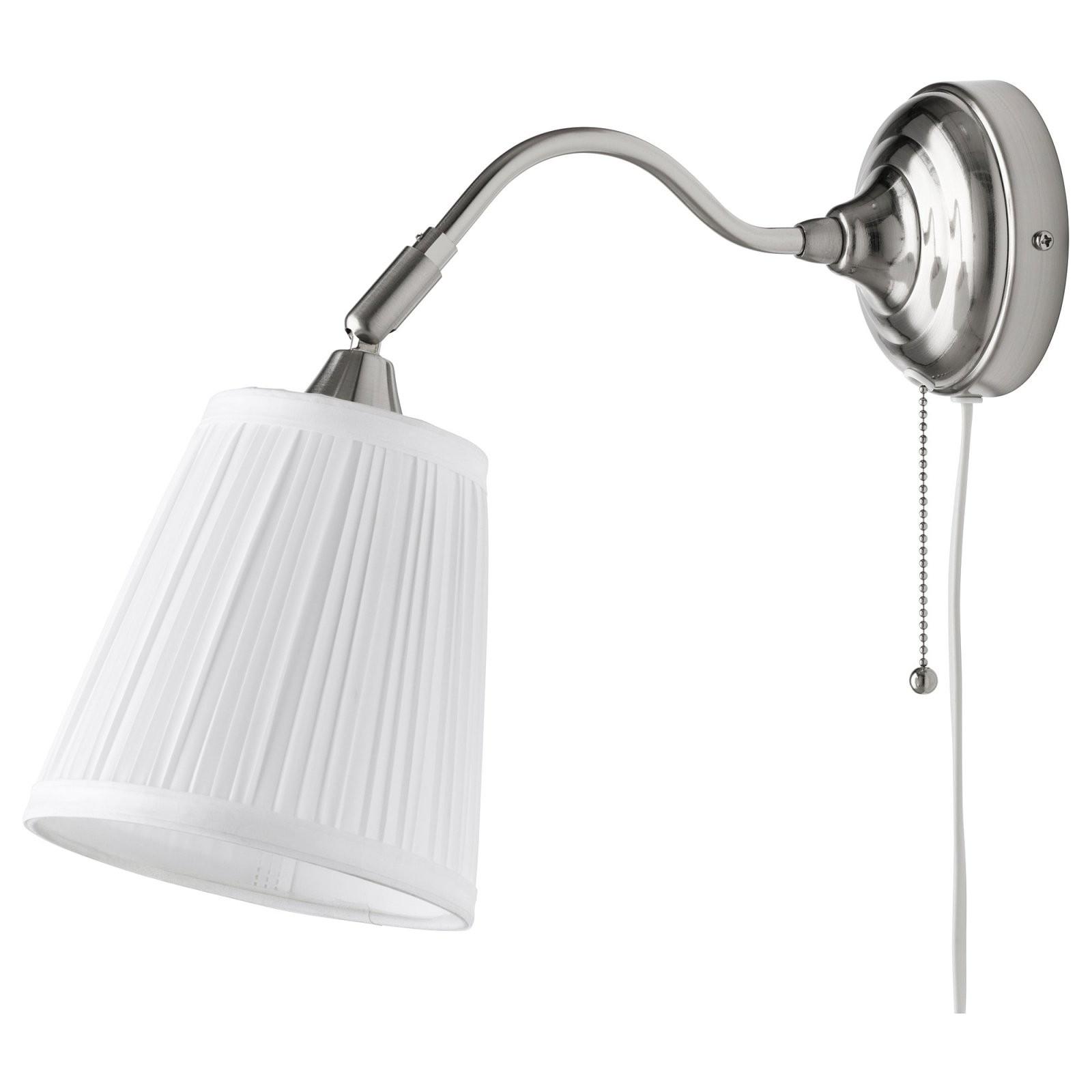 Årstid Wandleuchte  Vernickelt Weiß  Ikea von Wandlampe Mit Schalter Ikea Bild