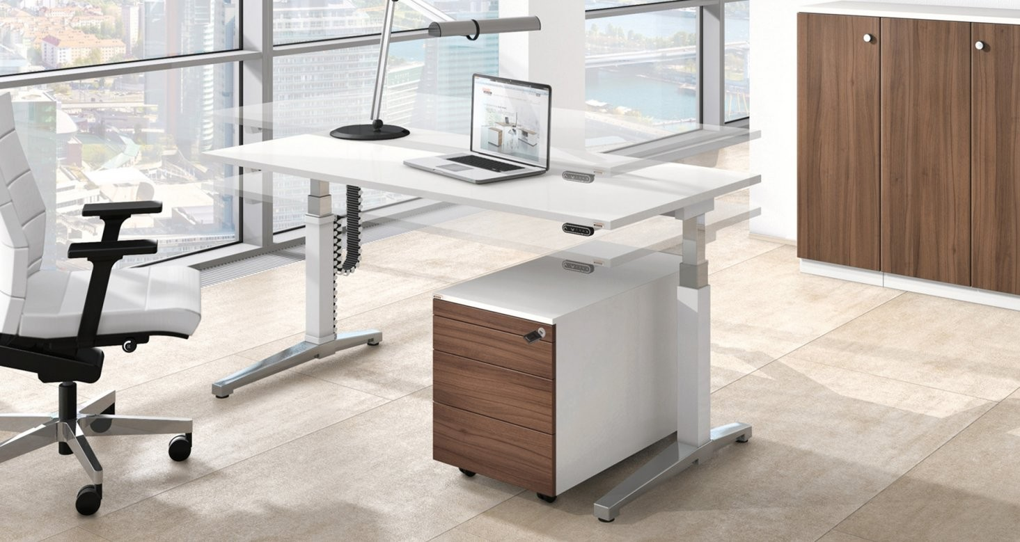 Assmann Büromöbel Fachhändler Darmstadt  Carala von Höhenverstellbarer Schreibtisch Selber Bauen Photo