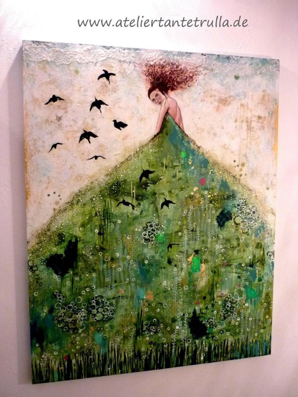 """Atelier Tante Trulla Moderne Malerei  Gemälde """"elaine""""  Mixed von Moderne Bilder Selber Malen Photo"""