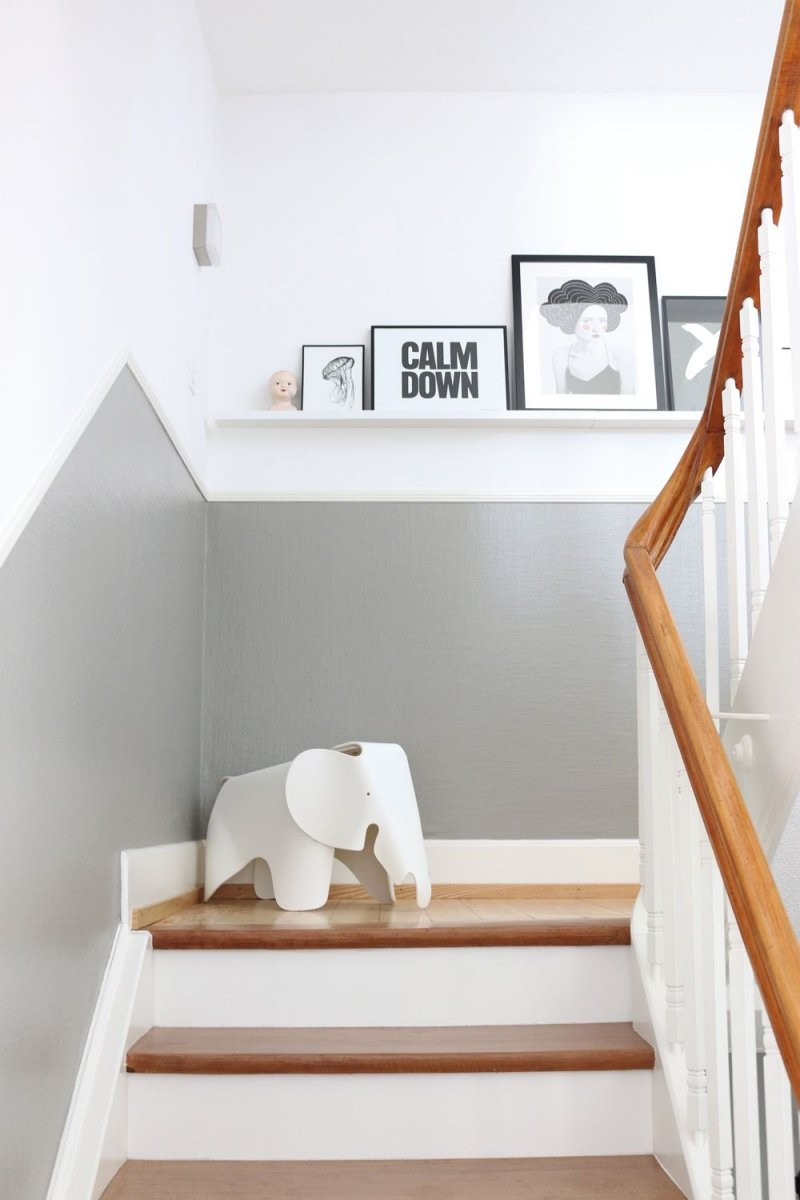 Auf Dem Weg Nach Oben  Wohnen  Treppe Haus Treppenhaus Und Treppe von Farbgestaltung Flur Mit Treppe Bild