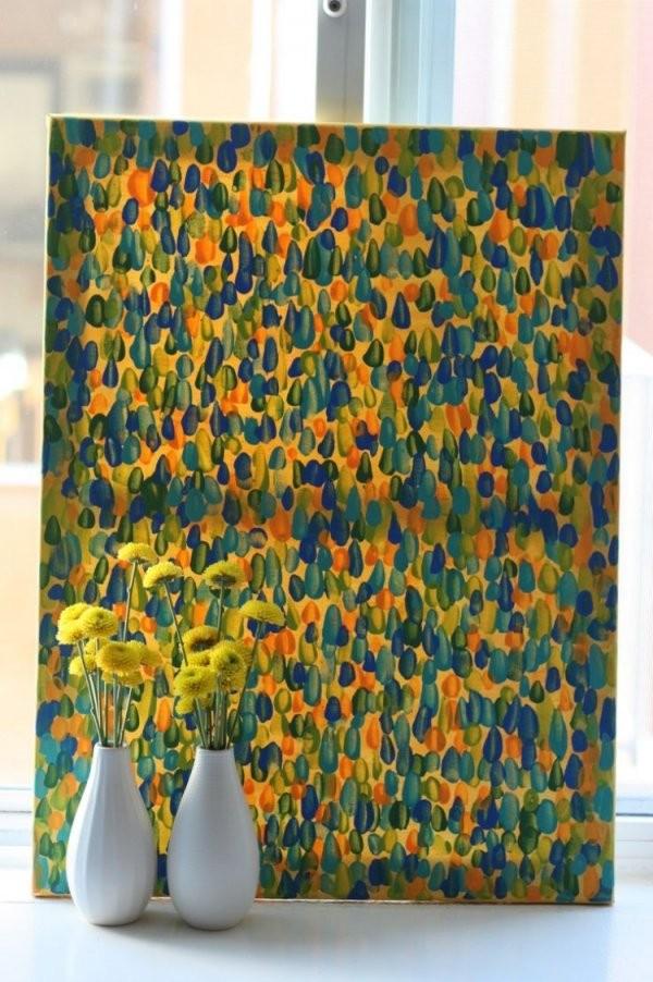 Auf Leinwand Malen  37 Originelle  Einfache Ideen Mit Anleitung In von Acrylbilder Selber Malen Vorlagen Bild