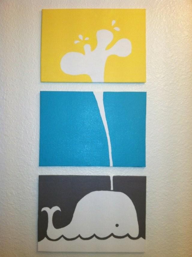 Auf Leinwand Malen  37 Originelle  Einfache Ideen Mit Anleitung von Keilrahmen Gestalten Vorlagen Ideen Bild