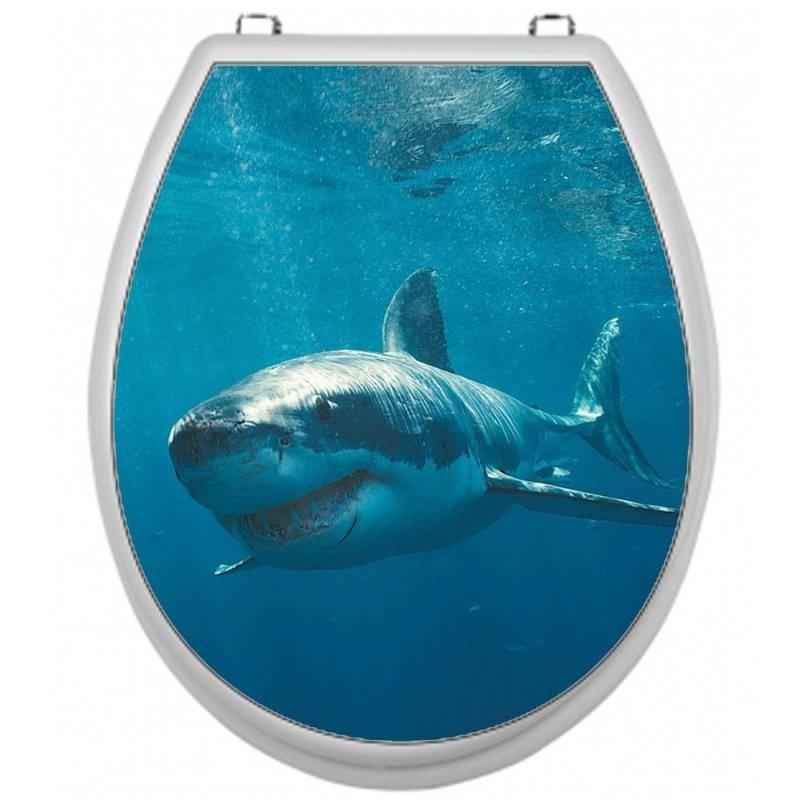 Aufkleber Für Toilettensitz Wc Sitz Aufkleber  Motiv Hai von Wc Sitz Aufkleber Selber Gestalten Photo