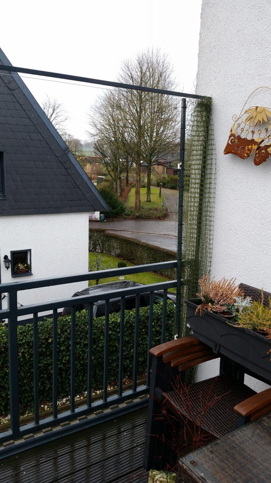 Aufschiebbares Katzennetz Für Balkon  Katzennetze Nrw  Der von Katzenschutznetz Balkon Ohne Bohren Bild