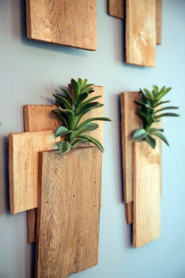 Aus Holz Bretter Vasen Für Die Wand Bauen  Schönes Wohnen In 2019 von Fotos An Die Wand Bild