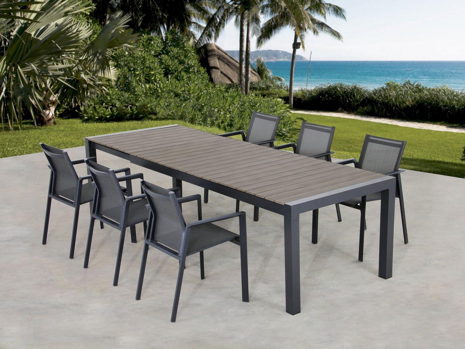 Ausziehbarer Gartentisch Mit 6 Armlehnstühle Günstig ⋆ Lehner Versand von Gartentisch Mit 6 Stühlen Bild