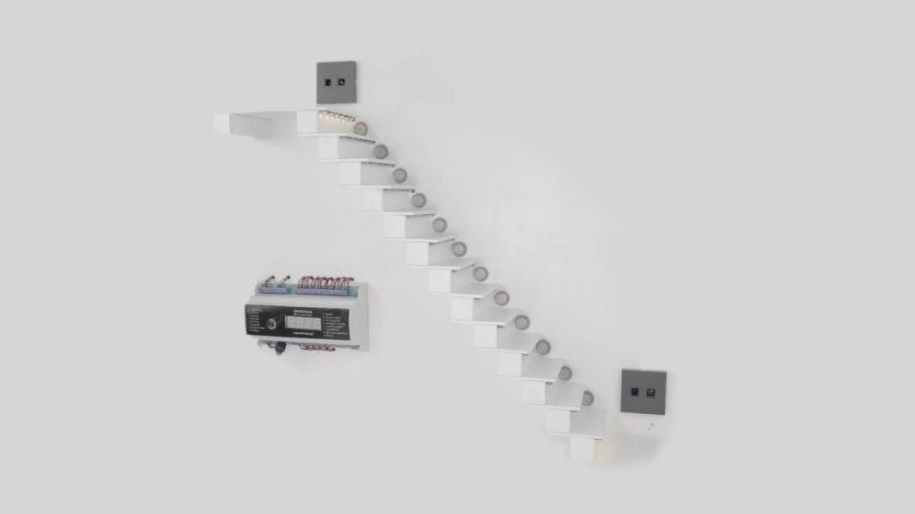Automatische Sensorgesteuerte Ledtreppenbeleuchtung Aslt16 Pro D von Led Treppenlicht Mit Bewegungsmelder Photo