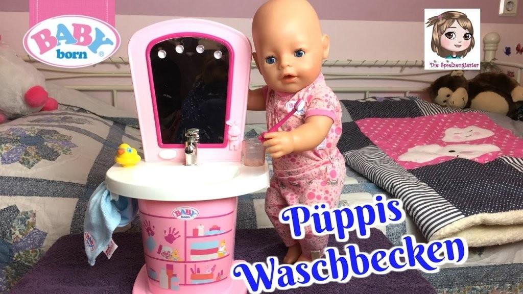 Baby Born Waschtisch  Püppis Morgenroutine Am Interaktiven von Baby Born Interactive Waschtisch Bild
