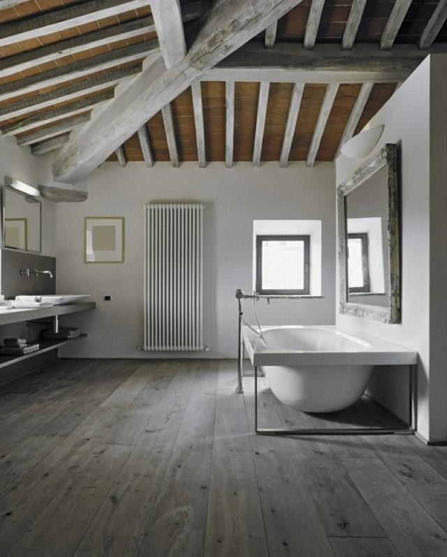 Bad Aus Holz Gestalten  Ideen Für Rustikale Badeinrichtung von Moderne Bäder Mit Holz Bild