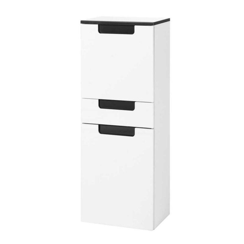 Bad Hochschrank Select In Weiß Hochglanz  Pharao24 von Badezimmer Hochschrank Weiß Hochglanz Bild