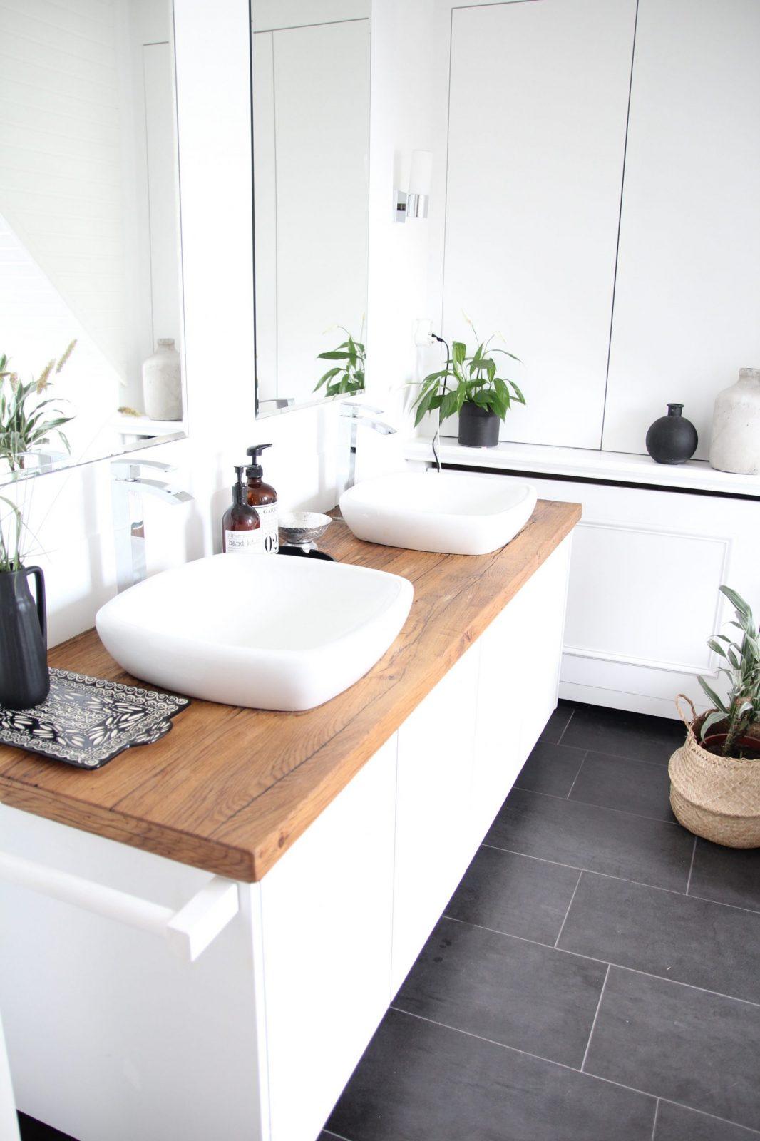 Badezimmer Selbst Renovieren von Waschbecken Platte Selber Bauen Bild