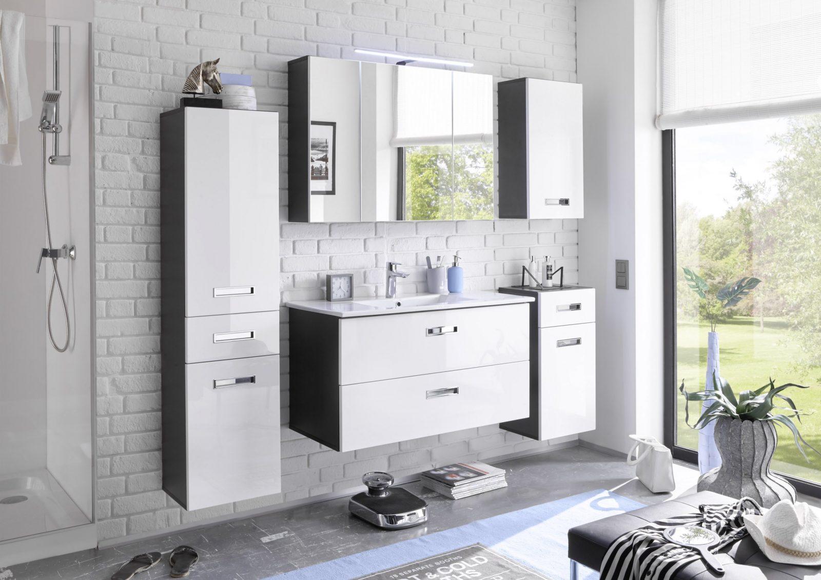 Badezimmer Set Manhattan 5 Tlg Badezimmer Badmöbel Badezimmermöbel von Badezimmer Komplett Günstig Kaufen Bild