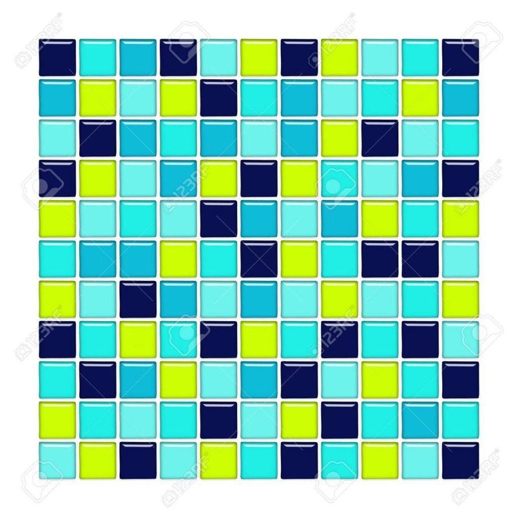 Badezimmer Wand Mit Blau Türkis Und Grün Glasmosaikfliesen von Mosaik Fliesen Türkis Bad Bild