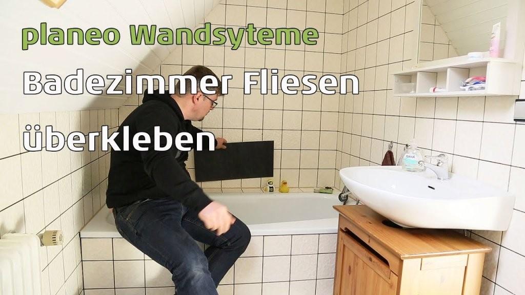 Badezimmer Wände Renovieren Mit Planeo Wandsysteme  Youtube von Fliesen Mit Pvc Überkleben Bild