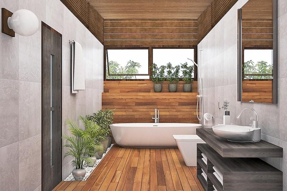 Badezimmermöbel In Allen Stilrichtungen von Moderne Bäder Mit Holz Photo