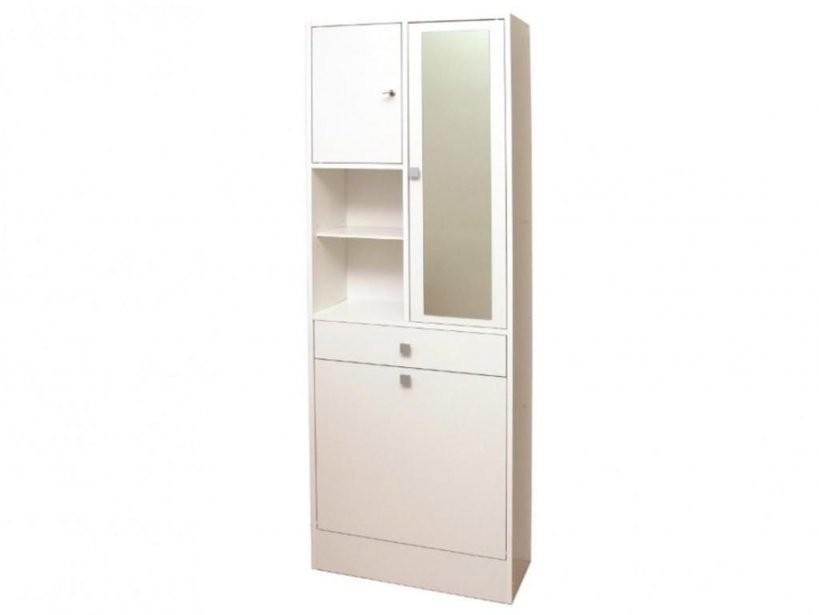 Badezimmerschrank Mit Wäschekippe Plizz  Weiß  Real von Badschrank Mit Integriertem Wäschekorb Bild