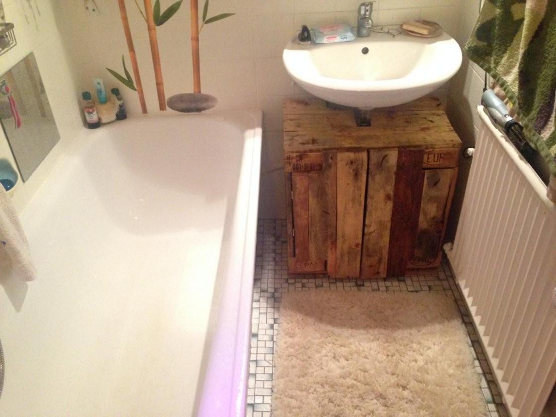 Badezimmerschrank Waschbeckenunterschrank Aus Palettenholz von Bad Unterschrank Selber Bauen Photo