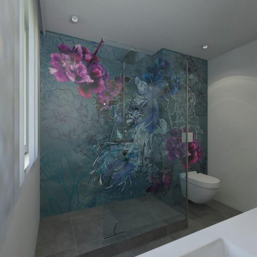 Badgestaltung Mit Tapeten ✓  Ist Tapete Im Bad Machbar von Wasserfeste Tapete Fürs Bad Photo