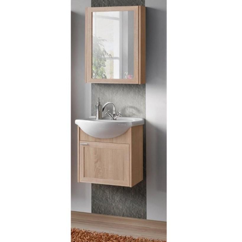 Badmöbel Badezimmer Livia 3 Tlg Set Sonoma Eiche 5  Real von Waschtisch Mit Unterschrank 50 Cm Photo