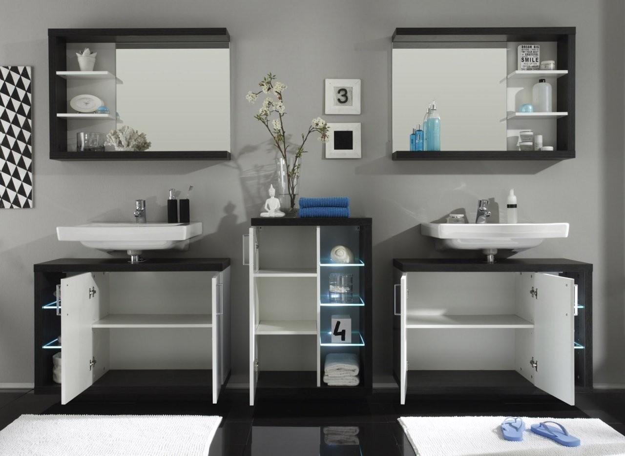 Badmöbel Sunrise Weißsilber Günstig Online Kaufen von Badezimmer Komplett Günstig Kaufen Bild