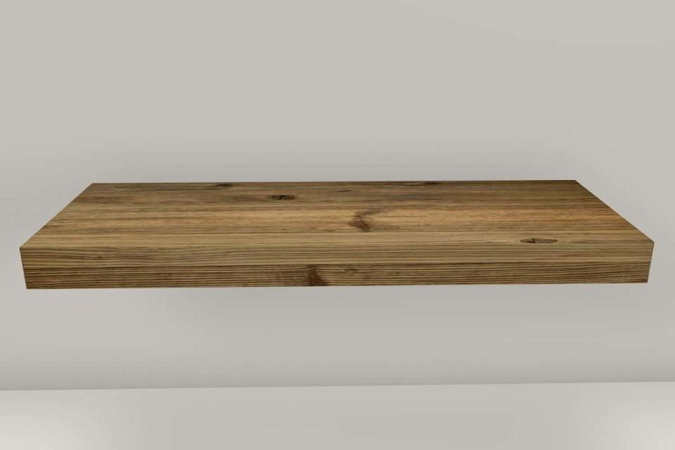 Badmöbel Waschtisch Altholz Fichte Nach Maß von Waschtisch Holz Mit Aufsatzwaschbecken Bild