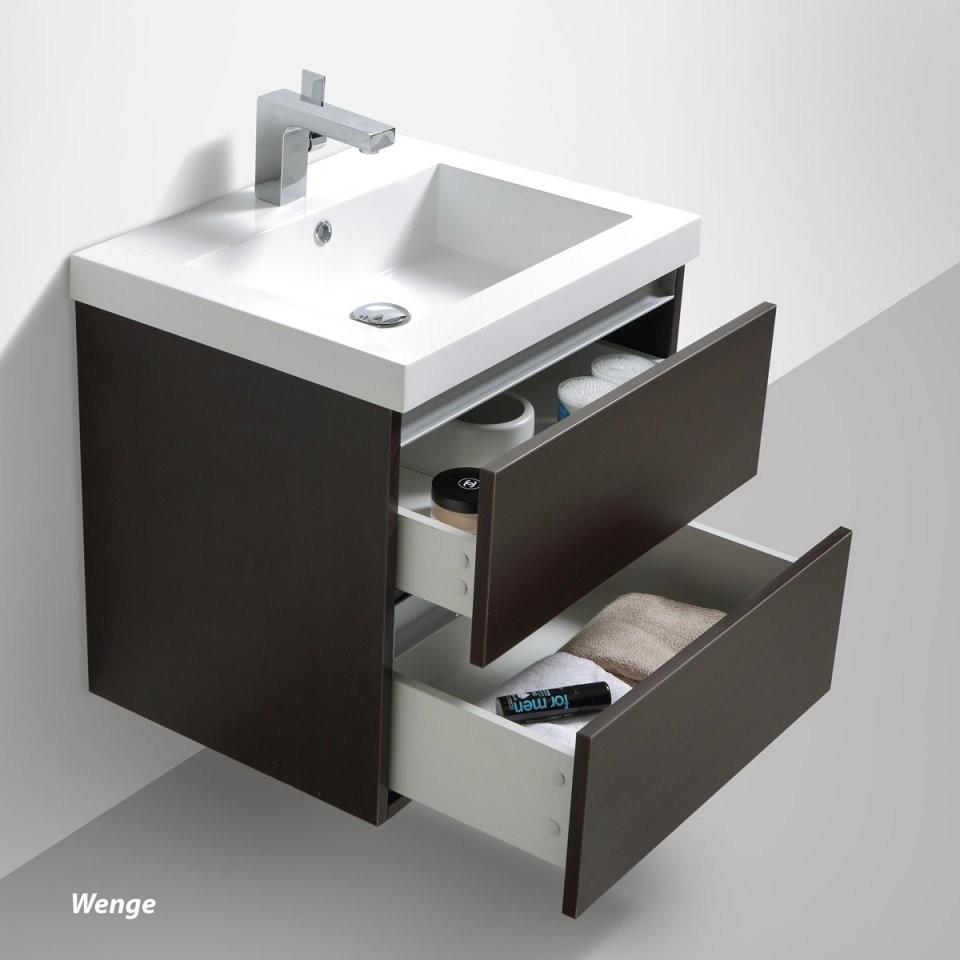 """Badmöbelset """"soho"""" 60Cm Mit Waschtisch Unterschrank Und Spiegel von Wc Waschtische Mit Unterschrank Bild"""
