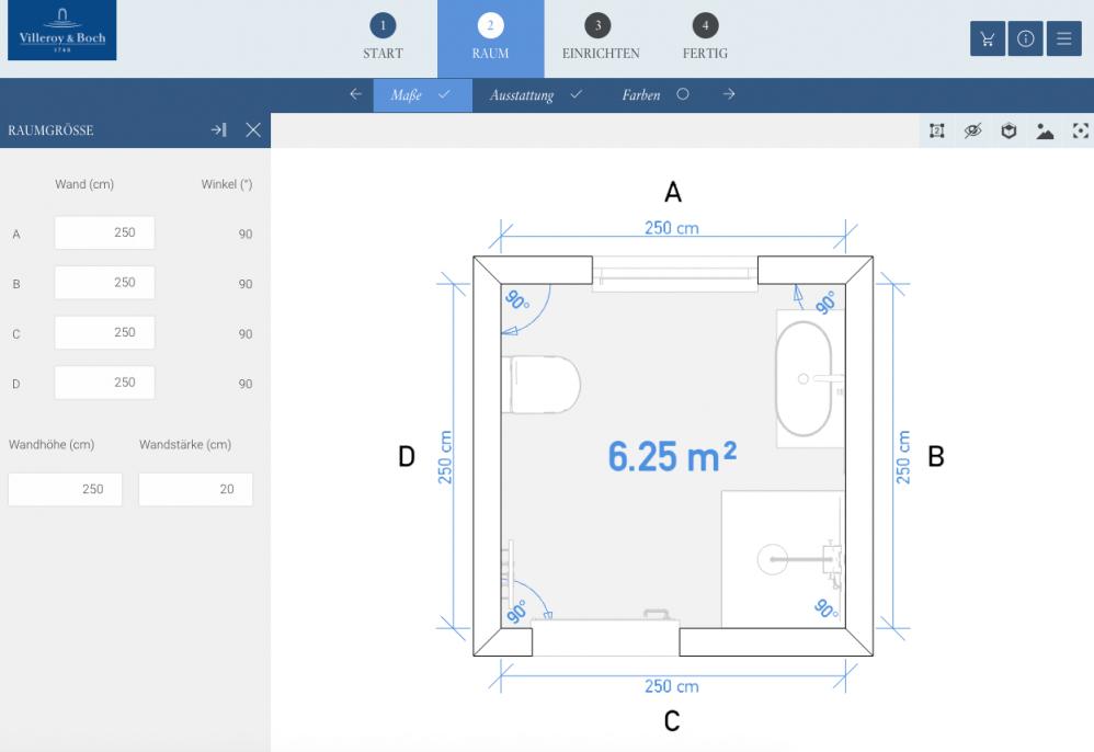 Badplanung Mit Dem 3Dbadplaner Von Villeroy  Boch  Design Dots von Badplaner Villeroy Und Boch Photo