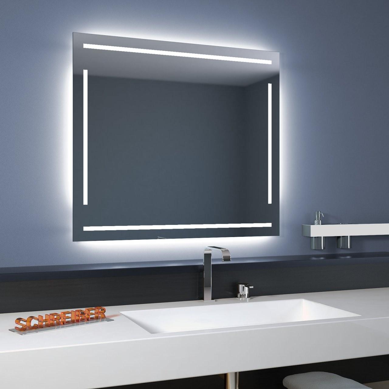 Badspiegel Linea Led 4S  Moderne Led Lampen von Led Spiegel Mit Steckdose Bild